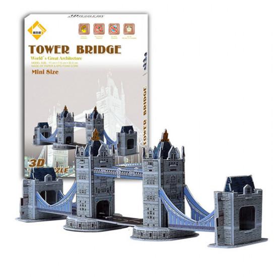 Colourful Carboard Jigsaw Model 3D DIY Puzzle Tower Bridge 32pcs 2021