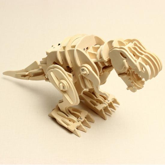 Dinosaur D200 Voice-activated RC 3D DIY Wooden Assembling Puzzle 2021