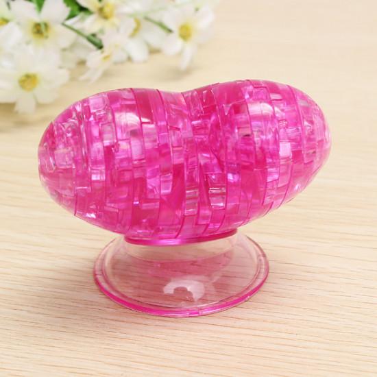 Educational Toys 3D Crystal Puzzle Heart Blocks Toys 2021
