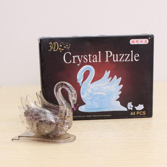 Educational Toys 3D Crystal Puzzle Swan Blocks Toys 2021