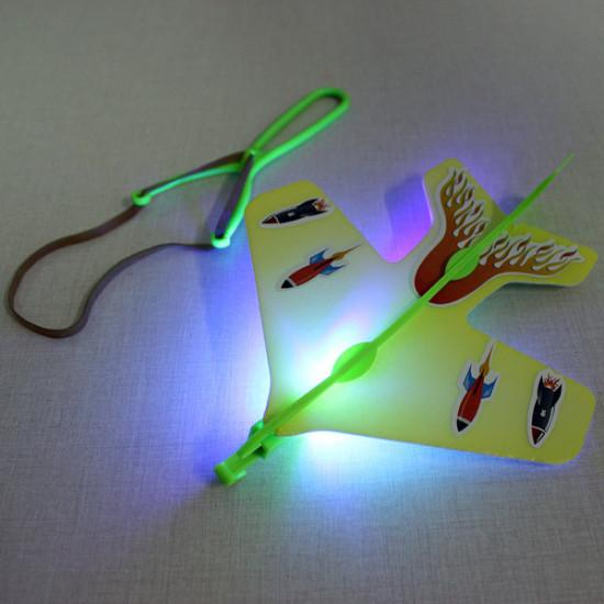 Magic LED Slingshot Plane Shinning Educational Toys 2021