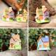 Micro Miniature Resin Small House Villa Ornaments Garden 2021