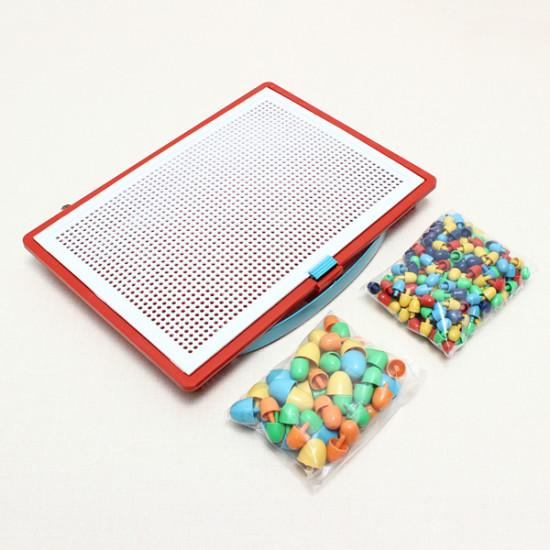 Plastic Nail Composite Picture Creative Mosaic Kit Puzzle Kid Toys 2021