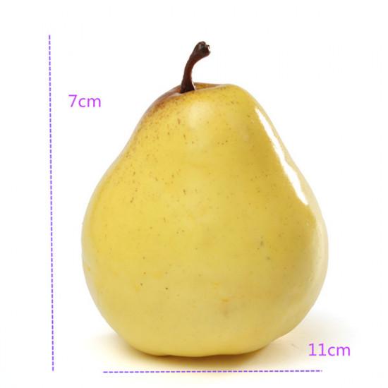 Realistic Pear Lifelike Foam Simulation Fake Fruit Display Toy 2021