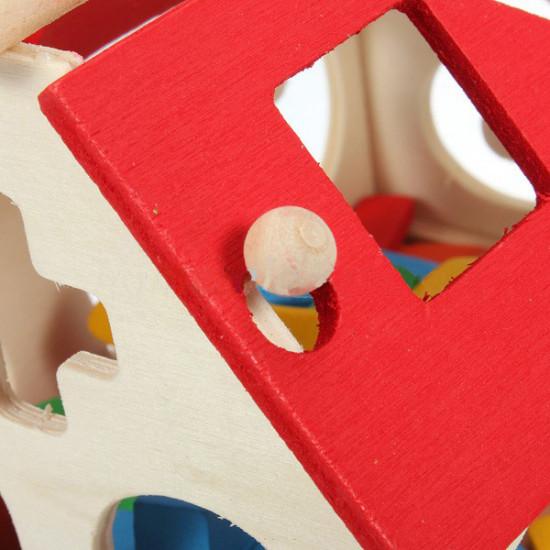 Wooden Toys House Digital Number Kids Building Educational Blocks 2021
