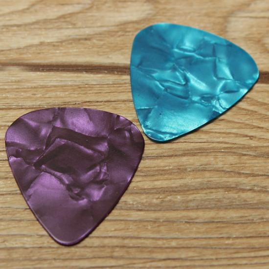 12pcs Guitar Picks Thin 0.46 mm Celluloid Coloured Plectrums 2021