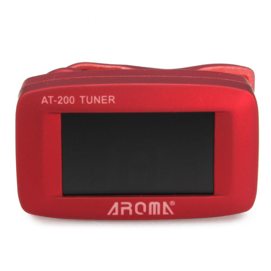AROMA AT-200 Tuner Clip Chromatic Guitar Bass Ukulele Violin Tuner 2021