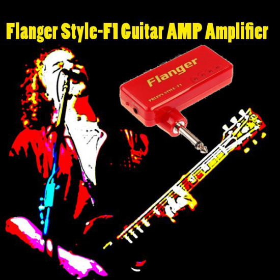 Flanger Style-F1 Miniature Portable Headphone Guitar AMP Amplifier 2021