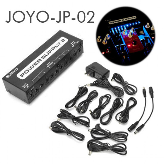 JOYO JP-02 Power Supply 2 Guitar Pedal Device 10 Isolated Outputs LED 2021