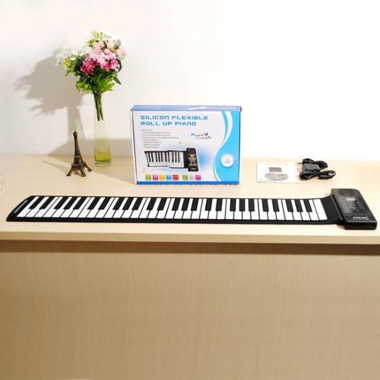 KONIX Silicon Flexible 61 Keys Electric Roll Up Piano PU61S 2021