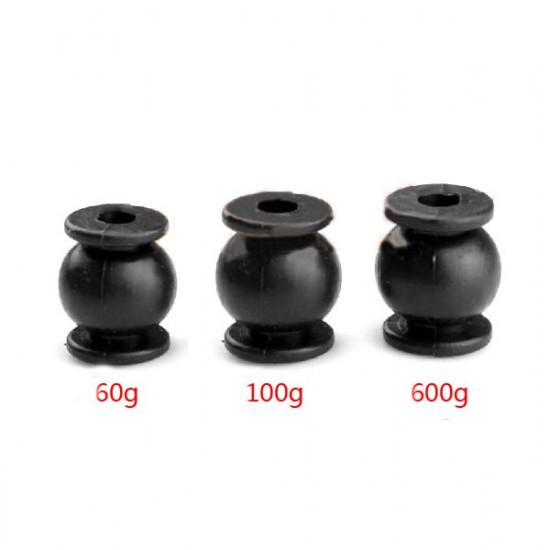 4PCS Anti-vibration Rubber Shock Absorber Ball 60g/100g/600g 2021
