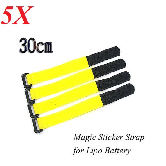 5X Nylon Magic Sticker Strap 2cm*30cm for Lipo Battery 2021