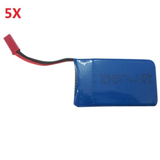 5 x 3.7V 730mAh Lipo Battery For Wltoys JJRC V686G V686J V686K Quadcopter 2021