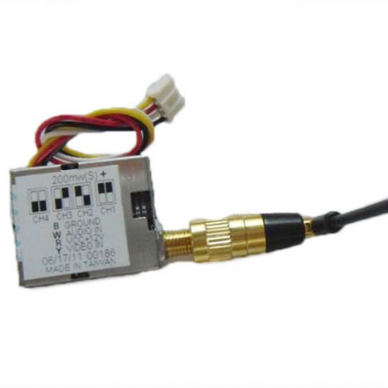 BT FPV 1.2G 4CH 200mW Mini Transmitter 2021