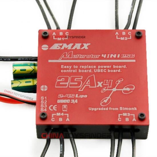 Emax Brushless 25A SimonK 4-in-1 Quadcopter ESC Built-in UBEC 2021