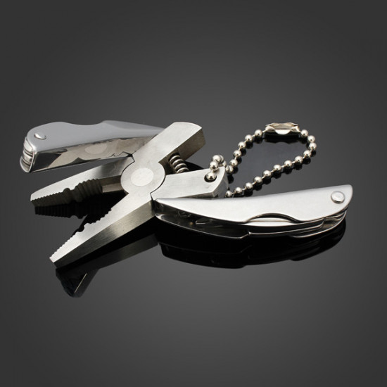 Portable Mini 6 in 1 Plier Multi Function Tools Keychain 2021