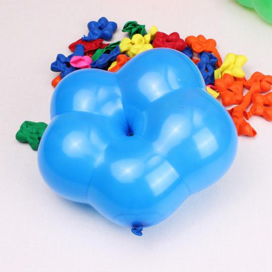 100pcs Multi-Color Flower Shape Latex Balloons Birthday Balloons 2021