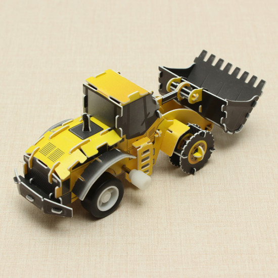 HopeWinning Classic Compages Assemble Toy Bulldozer Wind-up Toy 2021