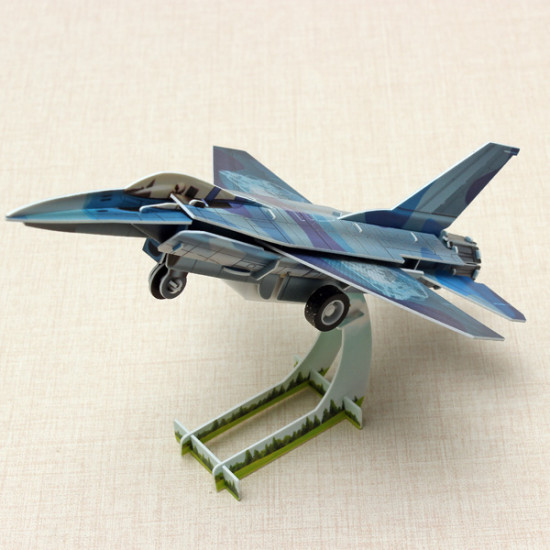 HopeWinning Classic Compages Assemble Toy F16 Fighter Wind-up Toy 2021