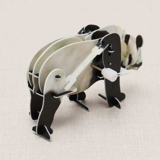 Hopewinning Panda Wind-up Puzzle Animals 3D DIY Educational Toy 2021