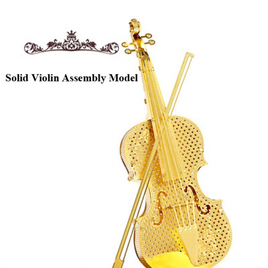 Piececool DIY Metal Solid Violin Simulation Assembly Toys Model 2021