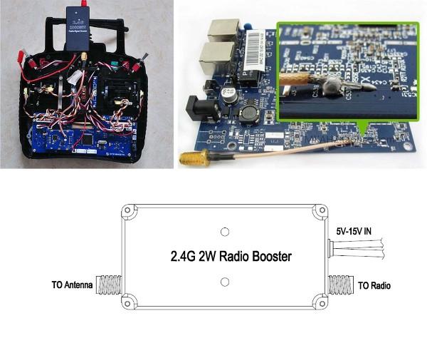 FPV 2.4G 2W 2000mW Mini Radio Signal Booster For DJI Phantom