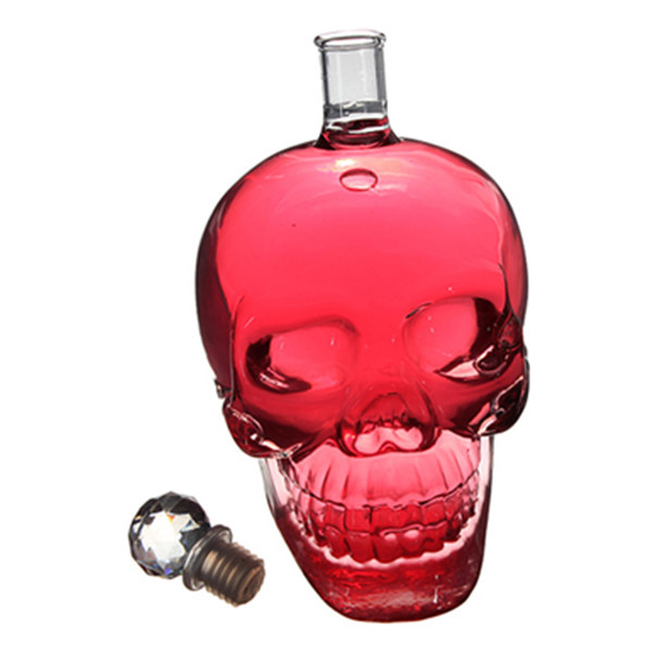 Buy 550ml Crystal Skull Head Vodka Whiskey Decanter Glass Bottle ...