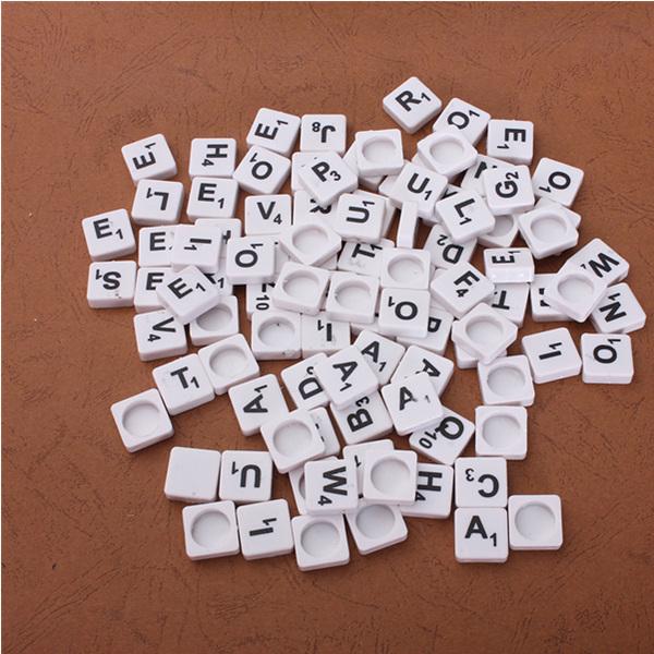 Buy 100pcs Scrabble Tiles English Letters Black White