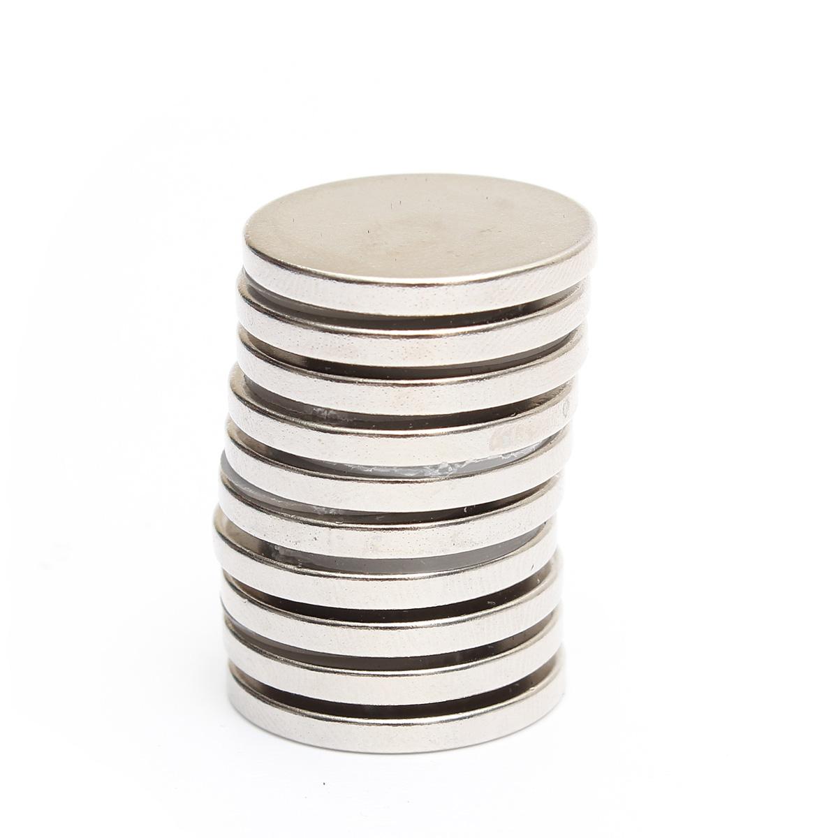 Buy 10pcs N52 25mmx3mm Round Neodymium Magnets Rare Earth