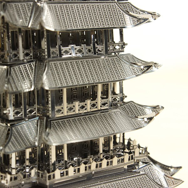 Buy Piececool Yellow Crane Tower Diy 3d Laser Cut Models