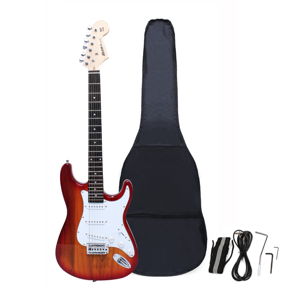 Buy Maple Fingerboard Electric Guitar With Gig Bag Accessories Monochrome Rcnhobby Com