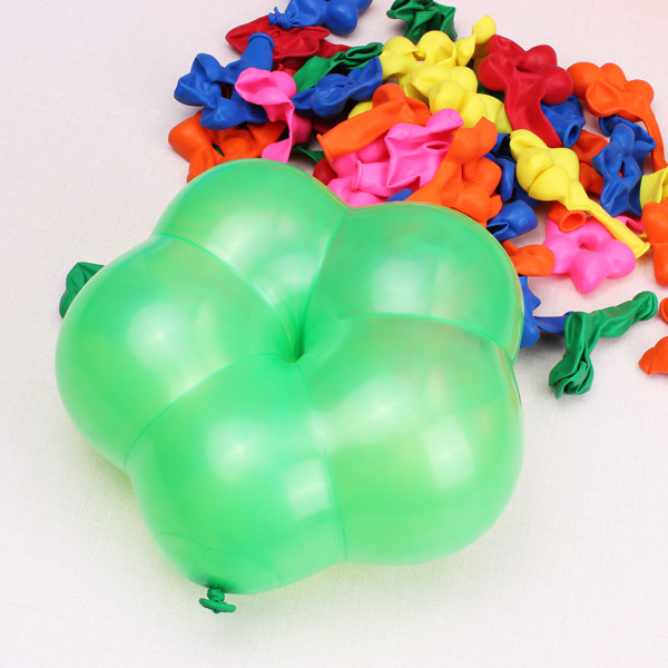 Buy 100pcs Multi Color Flower Shape Latex Balloons