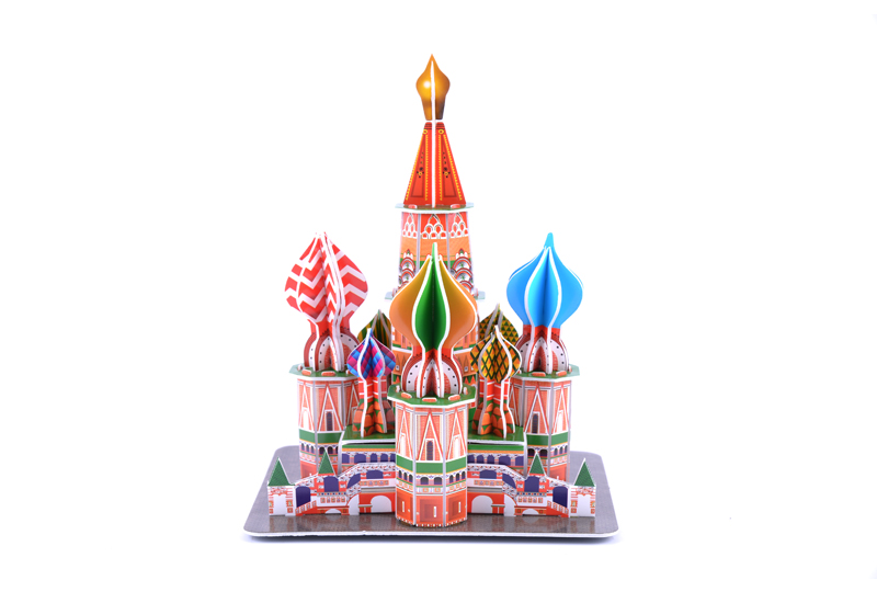 Buy 3d Paper Jigsaw Puzzle St Basil S Cathedral Diy Model Rcnhobby Com