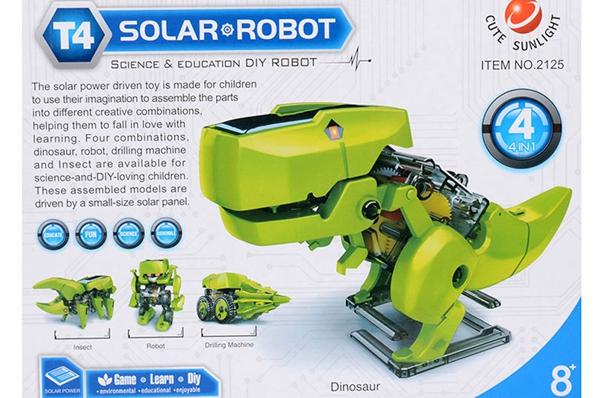 Buy 4 In 1 Solar Robot Educational Model Building Kits DIY ...
