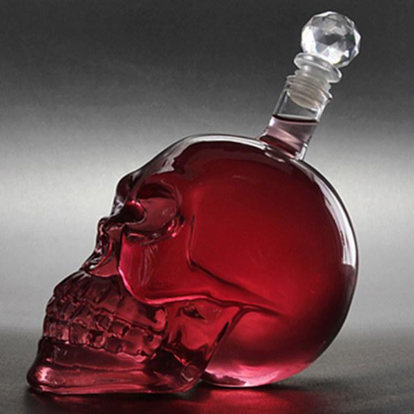 Buy 550ml Crystal Skull Head Vodka Whiskey Decanter Glass