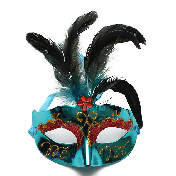 Buy Colorful Feather Masquerade Party Eye Mask Halloween