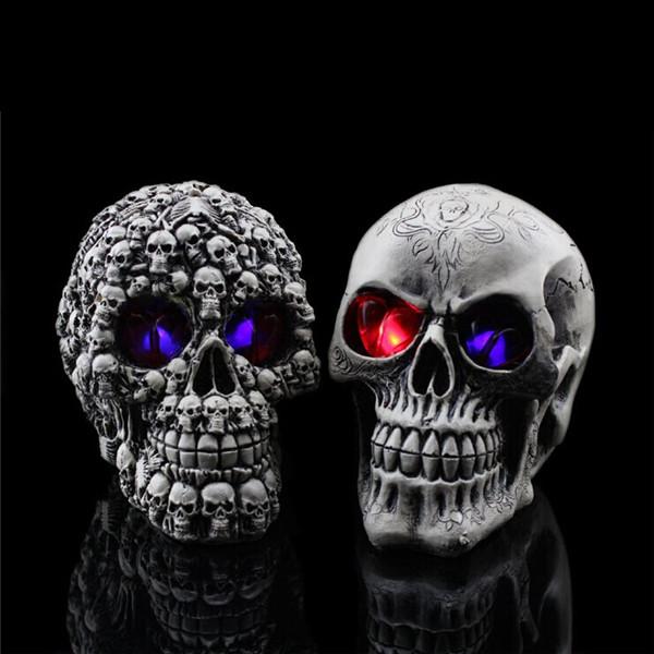 Buy Halloween Decoration Creative Terror Props Resin Skull