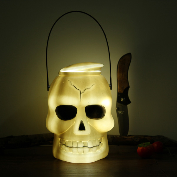 Buy Halloween Decoration Skull Light Barrel Lantern