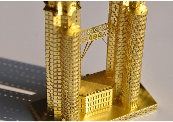 Buy Piececool 3D Assembly Golden Twin Tower Puzzle Toys ...