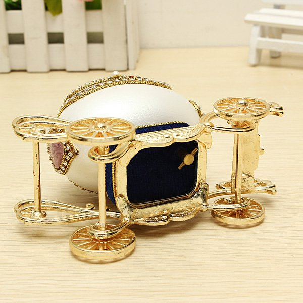 Buy royal carriage egg carving music box diy gift